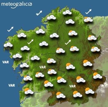 Predicciones para el miércoles 14 de agosto en Galicia.