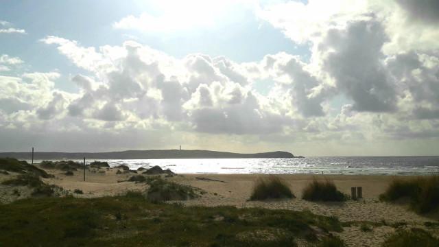 Foto de la playa de A Frouxeira, en Valdoviño (A Coruña), el 12 de junio de 2019