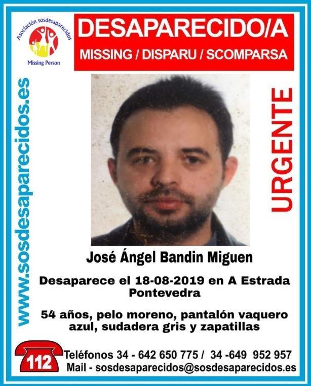 Imagen del hombre que ha desaparecido este sábado en A Estrada.
