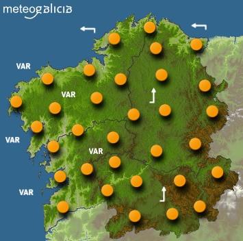 Predicciones para el viernes 23 de agosto en Galicia.