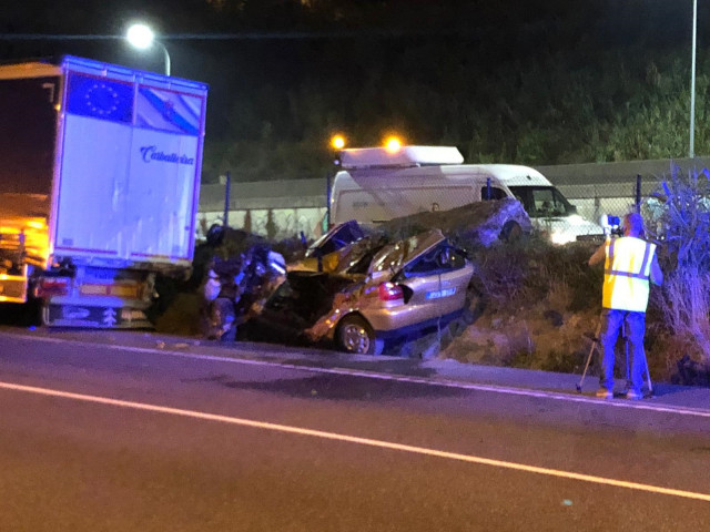 Accidente mortal en Redondela (Pontevedra),