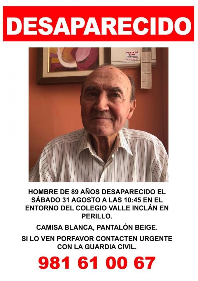 Hombre de 89 años desaparecido en Oleiros