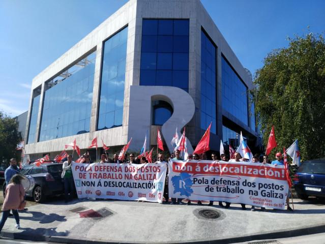 Protesta de trabajadores de subcontratas de R