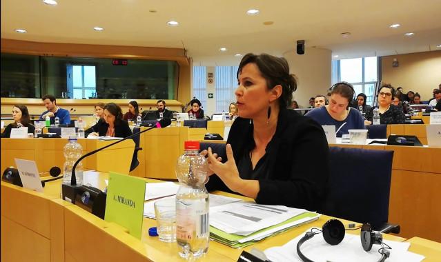 La portavoz del BNG en Europa, Ana Miranda, tilda de