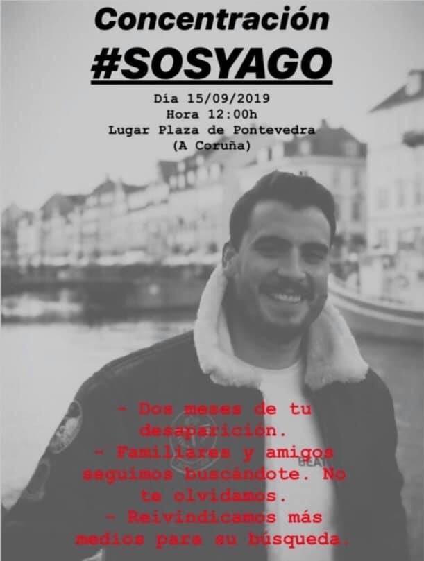 Convocatoria de concentración para la búsqueda del  joven Yago de la Puente