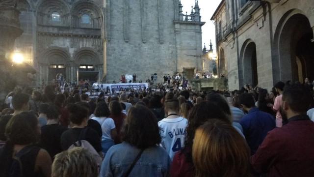 Protesta en Compostela por el triple asesinato de Valga
