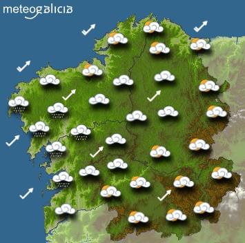 Predicciones para el miércoles 25 de septiembre en Galicia.