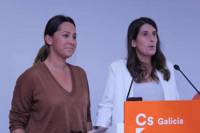 Las diputadas de Cs Beatriz Pino y María Vilas, en rueda de prensa