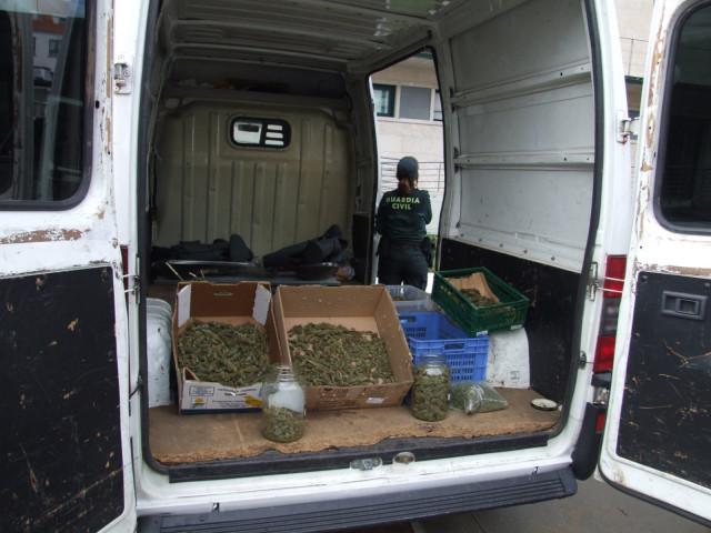 Detenido un vecino de Xinzo (Ourense) por tráfico de drogas al intervenirle cogollos de marihuana en un secadero.