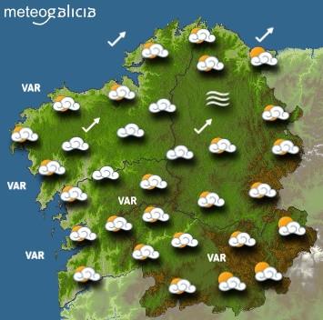 Predicciones para el miércoles 2 de octubre en Galicia.