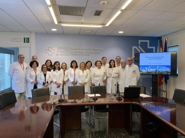 Presentación del plan de contingencia de la gripe en el áera sanitaria de Santiago.