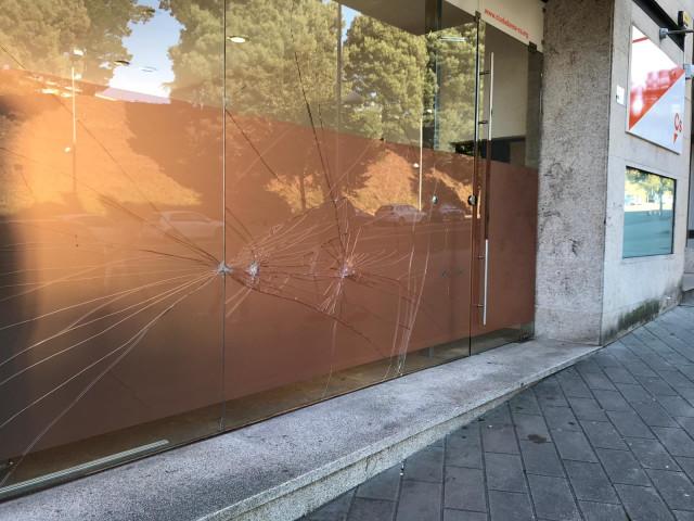 Acto vandálico contra la sede de Ciudadanos en Santiago de Compostela