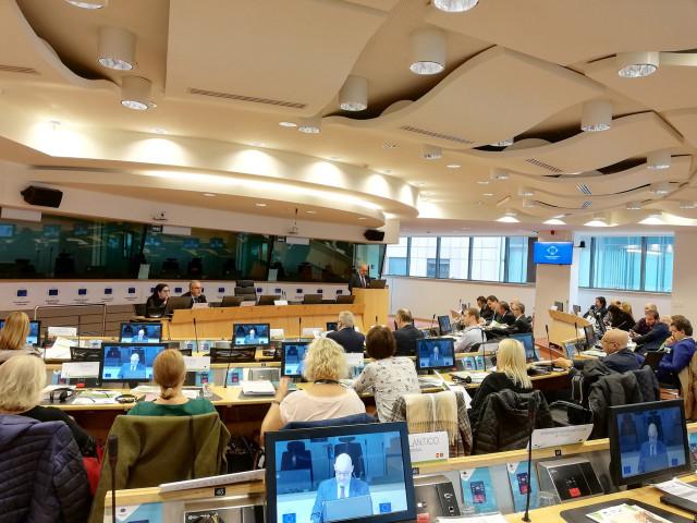 Reunión de instituciones europeas promovida en Bruselas por el Eixo Atlántico.