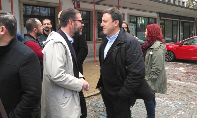 El alcalde de Ferrol con el preidente de la Diputación de A Coruña.
