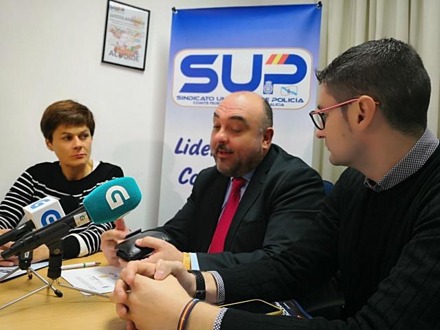Rueda de prensa del SUP para presentar un congreso sobre criminalística