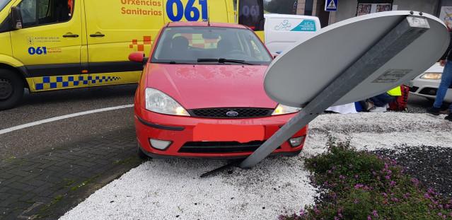 Imagen del vehículo accidentado.