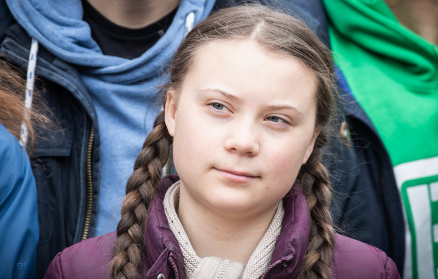 FILED - 29 March 2019, Berlin: Swedish environmental activist Greta Thunberg participates in a climate demonstration