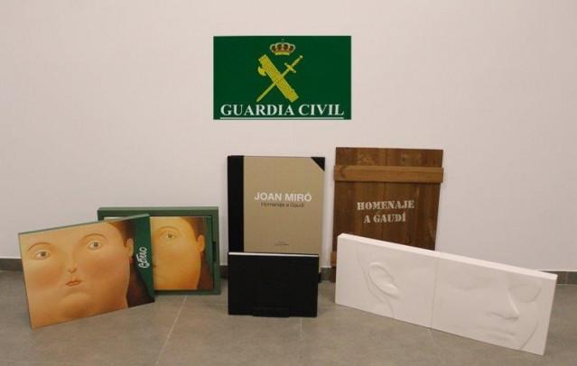 Obras de arte recuperadas por la Guardia Civil