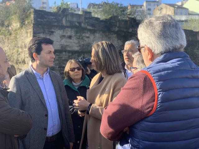 El secretario xeral del PSdeG, Gonzalo Caballero, en Lugo