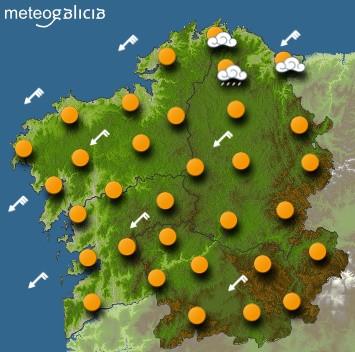Predicciones para el martes 3 de diciembre en Galicia.