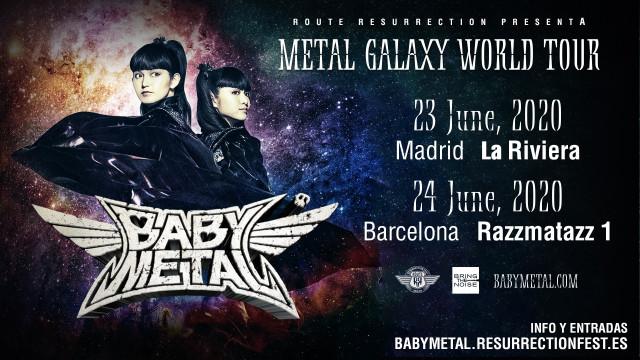 Cartel de 'Babymetal' en el 'Route Resurrection'