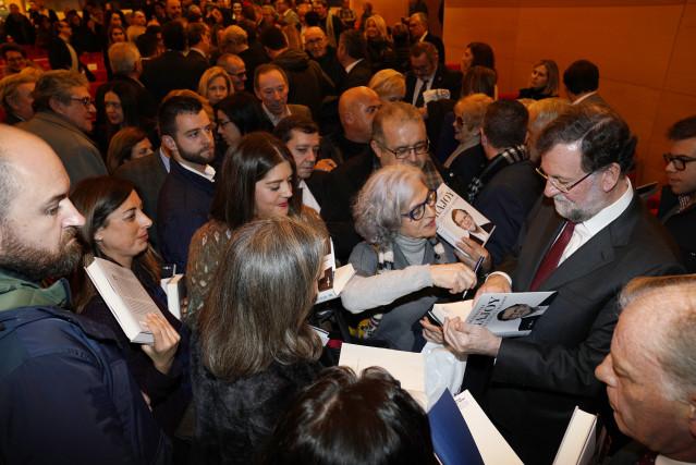 El expresidente Rajoy en la presentación del libro 'Una España mejor' de Mariano Rajoy a 9 de diciembre de 2019