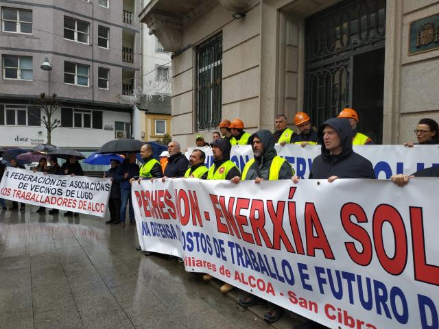 Protesta de Alcoa en Lugo