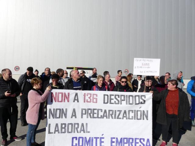 Protesta de los trabajadores de la firma de procesado de pescado Isidro 1952