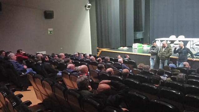 Concentración de trabajadores de las empresas auxiliares de As Pontes