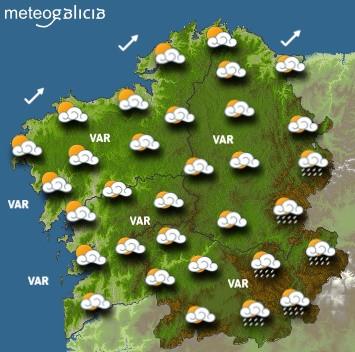 Predicciones para el miércoles 15 de enero en Galicia.