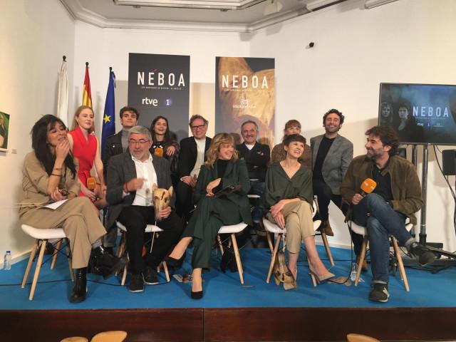 Presentación de la nueva serie de TVE 'Néboa' en la sede de la Xunta en Madrid