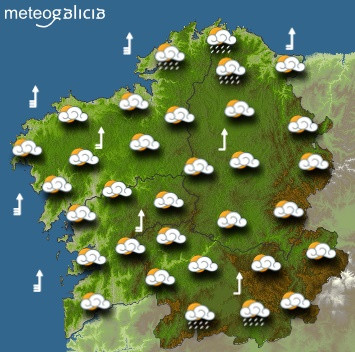 Predicciones para el sábado 18 de enero en Galicia.