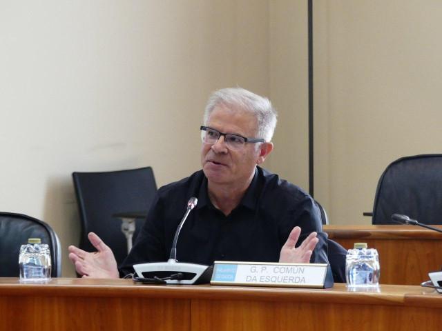 El portavoz del Grupo Común da Esquerda en el Parlamento de Galicia, Manuel Lago.