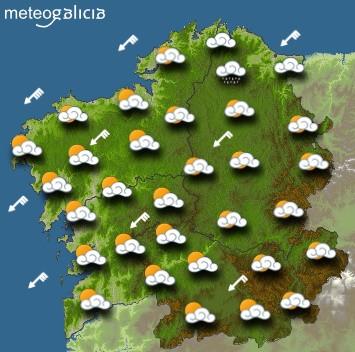 Predicciones para el miércoles 22 de enero en Galicia.