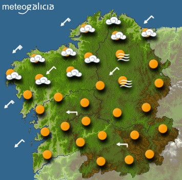Predicciones para el jueves 23 de enero en Galicia.