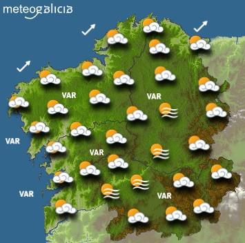 Predicciones para el sábado 25 de enero en Galicia.