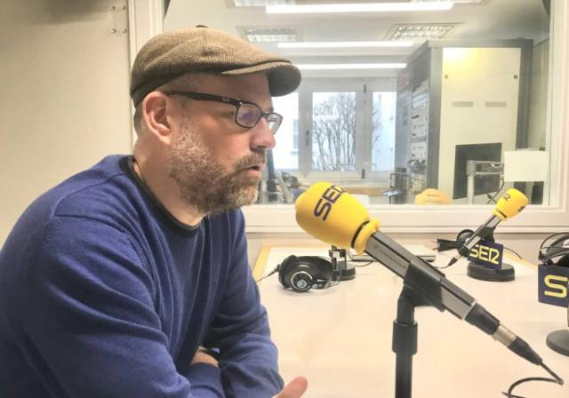 El responsable de relaciones políticas de Anova, Martiño Noriega, en una entrevista en Cadena Ser.
