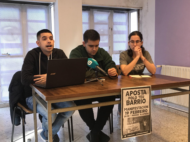 Rueda de prensa de Compostela sen Apostas.